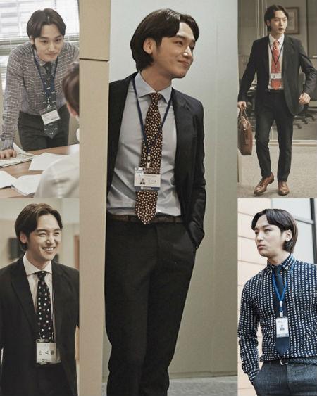 学西装系领带的方法图解