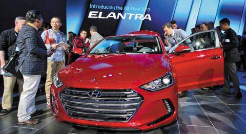 现代汽车新款avante将于明年初在美国上市